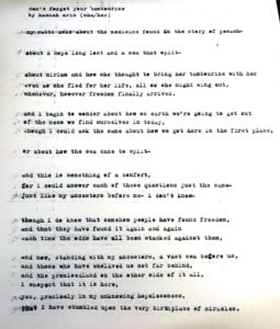 a smudged, yellowed typewritten page containing text that is transcribed below